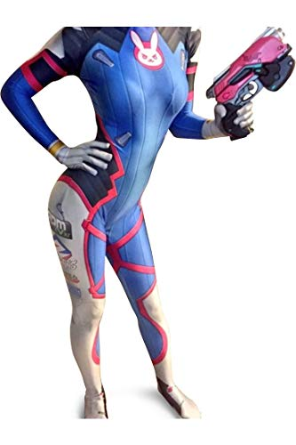 Overwatch DVa Cosplay Costume | DVa Bodysuit | DVa Suit | DVa Costume | Lycra Fabric XL (Best D Va Cosplay)