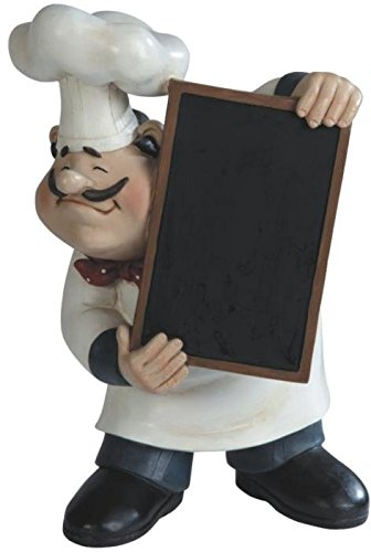 George S. Chen Imports Chef Holding A Tray Figurine, 11""