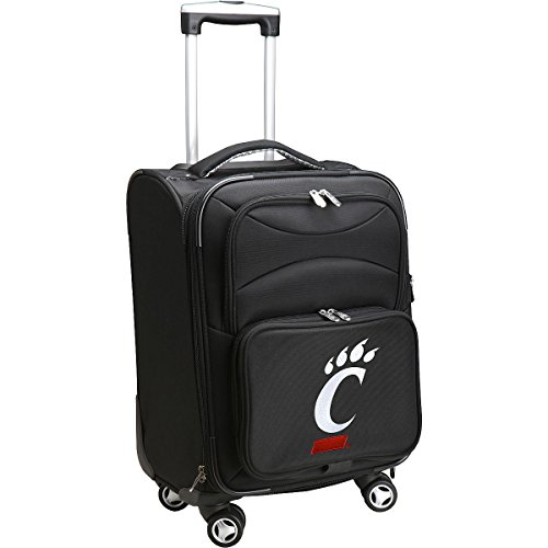 DENCO SPORTS LUGGAGE UNIVERSITY OF CINCINNATI 20'' BLACK DOMESTIC CARRY-ON (University Sport Spinner)