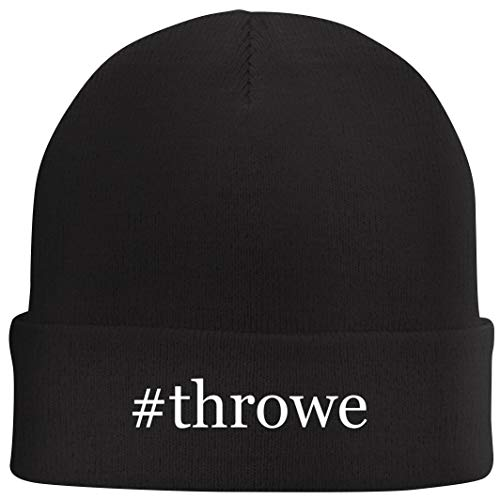 Tracy Gifts #Throwe - Hashtag Beanie Skull Cap with Fleece Liner, Black, One Size