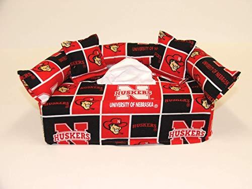 University of Nebraska Tissue Box cover. Includes Tissue