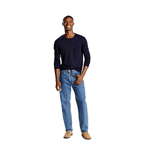 Levi's 01550 Men's 550 Relaxed Fit Jean, Medium Stonewash - 34x40