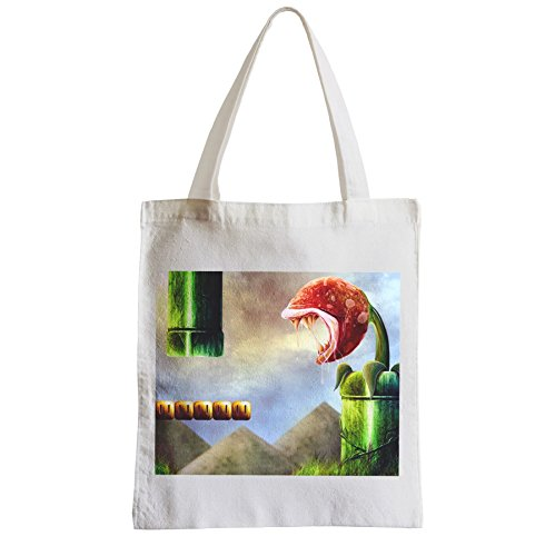 Große Tasche Sack Einkaufsbummel Strand Schüler Mario Ebene blutigen Videospiel-Plattformen