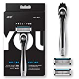 Made For YOU by BIC Shaving Razor Blades for Men & Women, with 2 Cartridge Refills - 5-Blade Razors for a Smooth Close Shave & Hair Removal, NICKEL: more info
