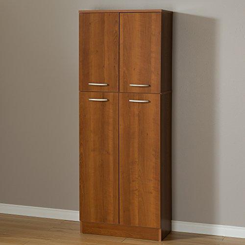 Door Four Cherry - South Shore 4-Door Storage Pantry with Adjustable Shelves, Morgan Cherry