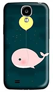 Samsung Galaxy S4 I9500 Hard Case - Balloons And Whales Galaxy S4 Cases