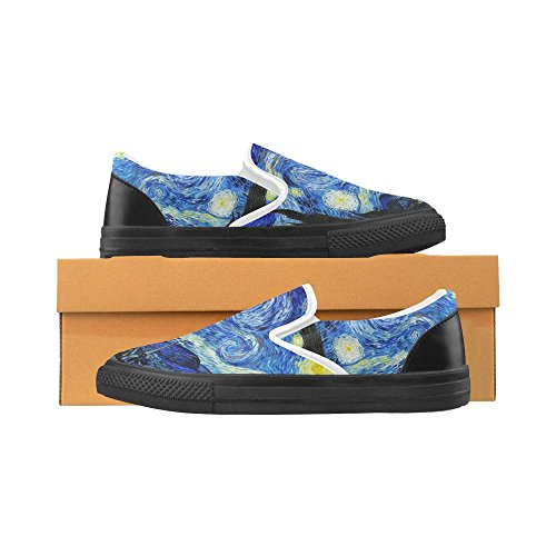 Loafers Shoes Unusual Debora on Customize Fashion Unique Sneakers Multicoloured48 Womens Slip Canvas YUXvXq