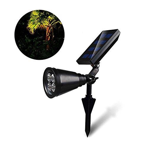 Solar Landscaping Spotlights Outdoor, 0.5W 4 LED Solar Power