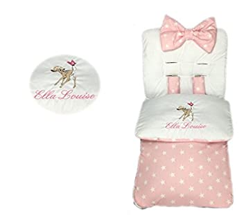 Saco de dormir personalizado para niñas con diseño de estrella rosa: Amazon.es: Bebé