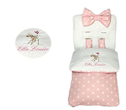 Saco de dormir personalizado para niñas con diseño de estrella rosa