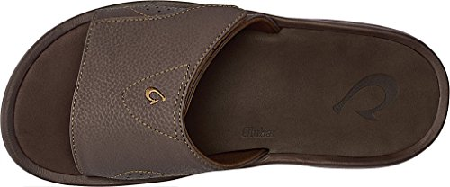 Olukai Mens Nalu Slide Dark Java / Dark Java