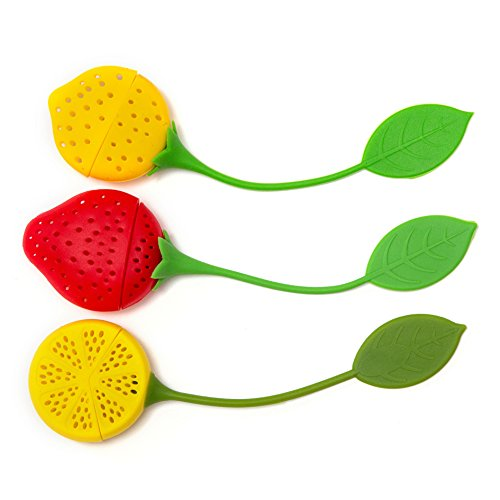 HULLR Silicone Tea Infuser & Strainer Gift Set (Colorful Fruits)