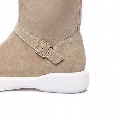 Mujer DESY Invierno Tobillo Zapatos redondo Confort Innovador Otoño Plano Tacón Botas Semicuero Hasta Dedo hasta Tobillo el Botines black Botas el ffxqHwdrIS