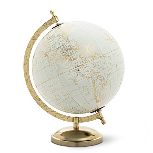 Abbott Collection 57-LATITUDE-02 Globe on stand, Ivory