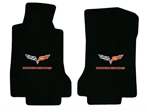 Used, 2005-2006 C6 Corvette Ebony Black Floor Mats - Crossed for sale  Delivered anywhere in USA