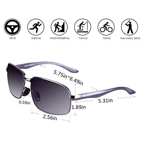 de sol gafas polarizadas Glare de Gafas de unisex anti sol moda UV zw06xR8q