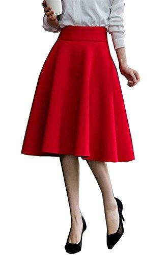 lgante 5XL Doux Jupe 1 Jupes RIZ ZOAWD Vintage Femme Rouge Jupes Maxi S Taille Haute Dames Confortable 767pxfRq0w