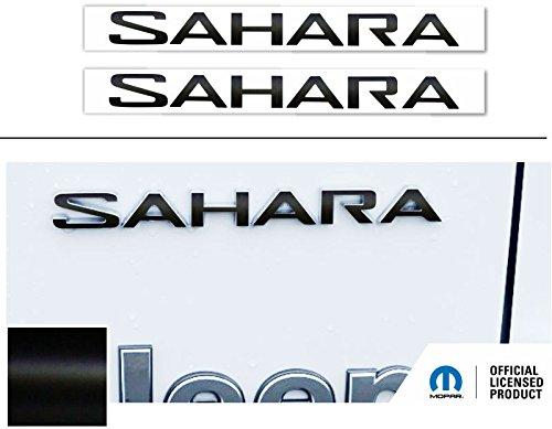 SAHARA Fender Emblem Overlay Decal Stickers- 2018 Wrangler JL - (Color: Flat ()