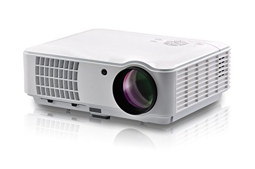 4000 Lumen 1080P FULL HD Home Theater Multimedia USB VGA HDMI LED Projector LED Projector for PC iPad iPhone Smartphone Multimedia Home Theater Cinema Projector