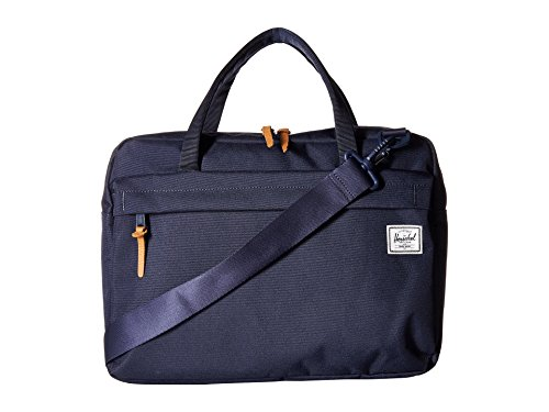Blue Striped Messenger Bag - Herschel Supply Co. Gibson Laptop Messenger Bag, Peacoat, One Size