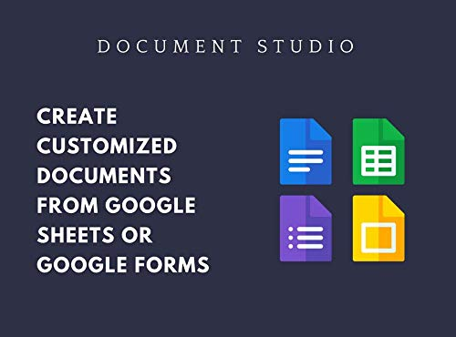Document Studio - Automated Document Generation with Google Sheets and Google Forms
