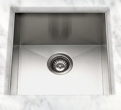 cantrio kss 003 stainless steel undermount kitchen sink 21 x 22 rh amazon com
