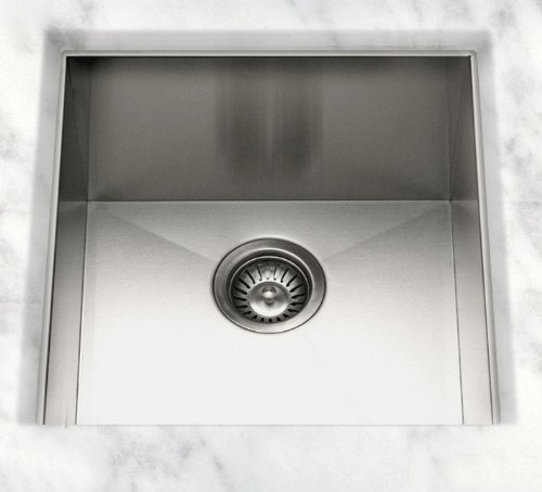 Cantrio KSS-003 Stainless Steel Undermount Kitchen Sink, 21 x 22-Inch