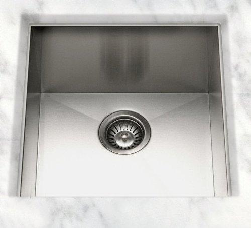 Cantrio KSS-003 Stainless Steel Undermount Kitchen Sink, 21 x 22-Inch