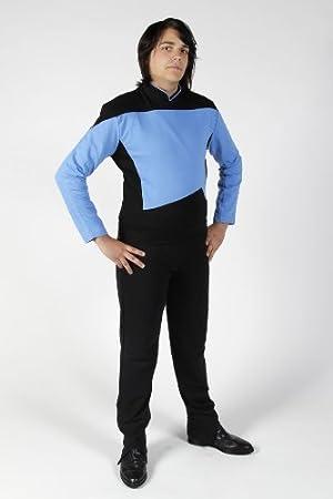 Star Trek - The Next Generation - Uniform Shirt Pant - Blue - L ...