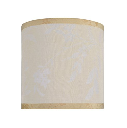 Smooth White Silk Shade - Aspen Creative 31052 Transitional Hardback Drum (Cylinder) Shape Spider Construction Lamp Shade in Off White, 8