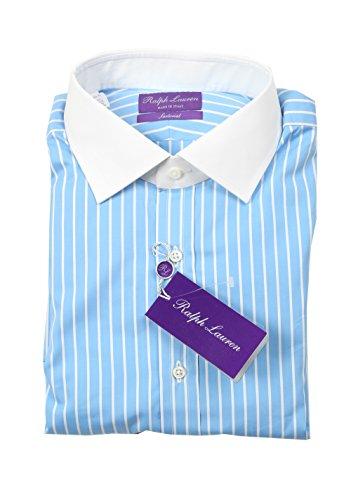CL - Ralph Lauren Purple Label Sartorial Line Blue Striped Shirt Size 42 / 16.5 U.S.