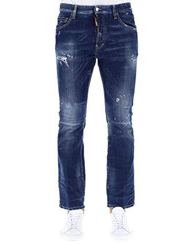 Cotone Uomo Jeans Blu Dsquared2 S71lb0551s30342470 q1wOZ5U
