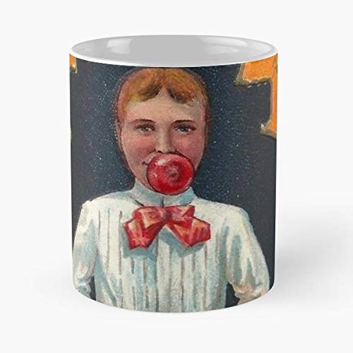 Bobbing For Apples Halloween Game Vintage Holiday Card - Best Gift Ceramic Coffee Mugs 11 Oz]()