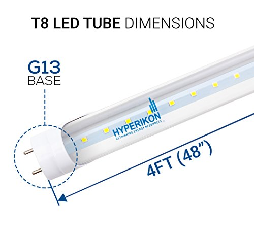 Hyperikon-T8-LED-Light-Tube-4ft-18W-Single-End-Powered-Ballast-Bypass-Clear