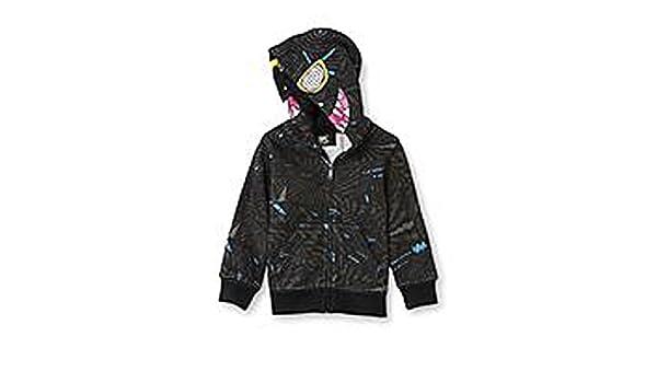Sk2 Baby-Boys Toddler Fake Zipface Hoodie Jacket Black