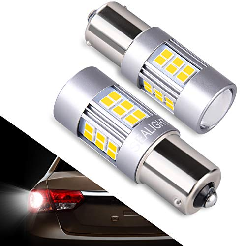 1156 LED Bulb 1141 Back Up Lights, SEALIGHT 1003 7506 Super Bright White Reverse Lights, Parking Lights, 27 SMD 12V 6000K 2018 Upgrade (2 Pack)