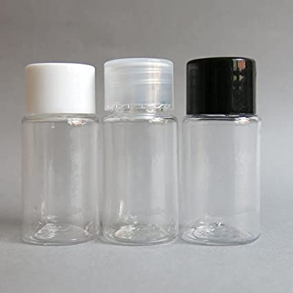 50/lot 10 ml Claro botellas con tapón, 1/3oz botellas PET,