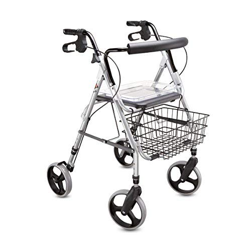 Strange Rollator Walker Lightweight Height Adjustable Up To Body Size 74 8 Inch With A Perfect Seat Foldable Bralicious Painted Fabric Chair Ideas Braliciousco