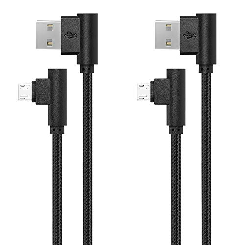 APFEN Braided Micro USB Cable, 2 Pack 3ft/1M Android Charger Cable/Samsung Fast Charging Compatible Cable with Galaxy S7/S6, Sony, Motorola and More (Black, 3ft)