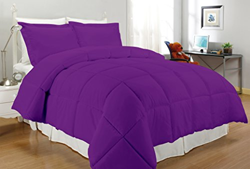 South Bay Down Alternative Comforter, Full/Queen, Purple