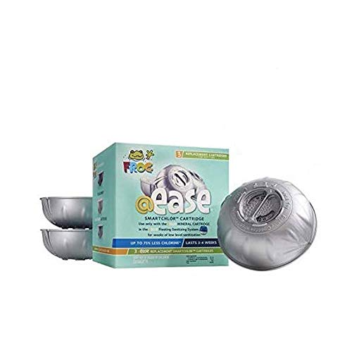 Frog Spa @Ease SmartChlor Chlorine Cartridge – 3 Pack Mineral Sanitizing System (with Free PEARSONS SCUMBALL Absorber)