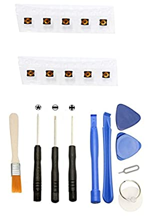 Games&Tech Lot of 10 Top Inner Power On Off Button Contact Switch Port + Tools for iPhone 4 4s 4g