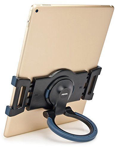 (AIDATA Portable Multi-Surface Adjustable Universal Tablet Stand with 360 Rotation - Fits Most 7.5