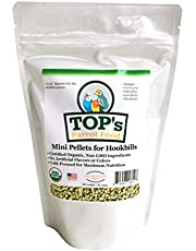 TOP's Parrot Food Mini Pellets Bird Food, Perfect for Budgies Cockatiels Parrotlets Lovebirds Parakeets - Non-GMO, Peanut Soy & Corn Free, USDA Organic Certified