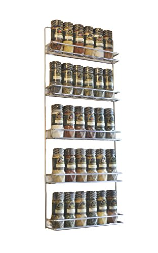 Avonstar Trading 101 5-Tier Spice Rack, Chrome