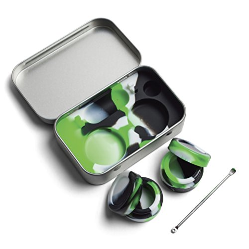 Dab Kit Silicone Stainless Container
