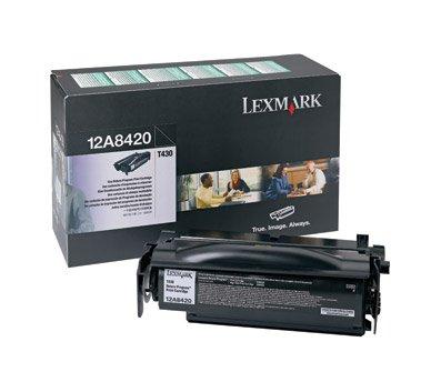 (Lexmark 12A8420 OEM Toner - T430 Return Program Toner (6000 Yield) OEM )