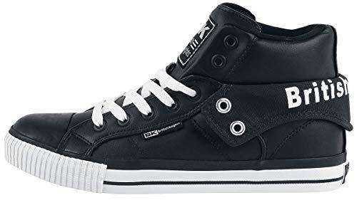 A Sneaker Nero Collo Knights Roco Alto Uomo British EqT6t6 1e6551a87a7