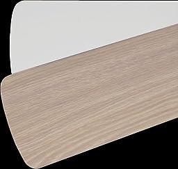Quorum 5255206125, Five Reversible Washed Oak / White Blades, 52\