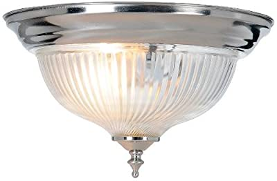 AF Lighting Halophane Swirl Ceiling Fixture, Brushed Nickel Finish